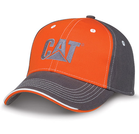 Cat Charcoal Gray and Orange Cap