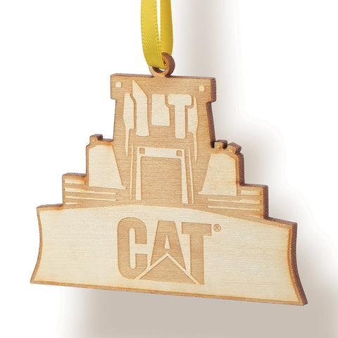Wooden Dozer Ornament