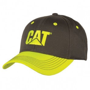 Safety Yellow Gray Twill Cap
