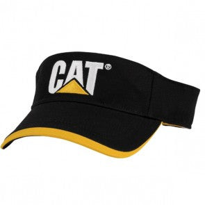 Black with Yellow Trim Visor