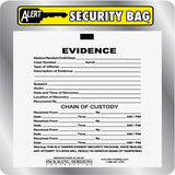 Alert Evidence & Chain of Custondy Plastic Secure Seal Evidence Bags