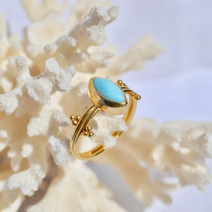 The Mata eye ring - Larimar