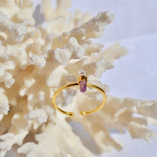 Load image into Gallery viewer, The Adjustable Amethyst ring