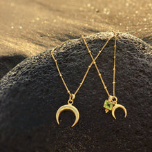 Load image into Gallery viewer, CANTIK small crescent moon gold pendant