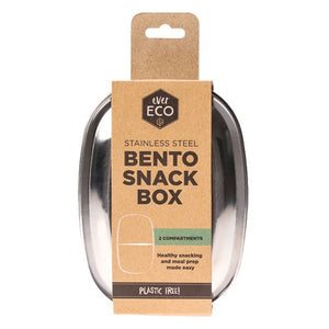 EVER ECO STAINLESS BENTO SNACK BOX (2 Compartment)