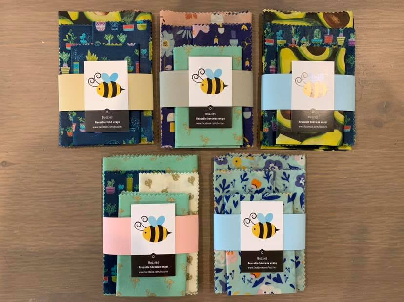 BEESWAX WRAP SUPER SIZED 2 PACK (BUZZIES)