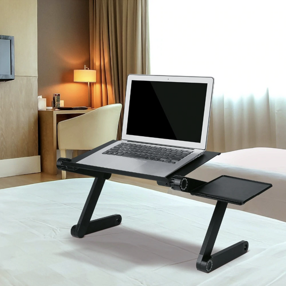 Adjustable Laptop Desk. (Mouse Pad Included)