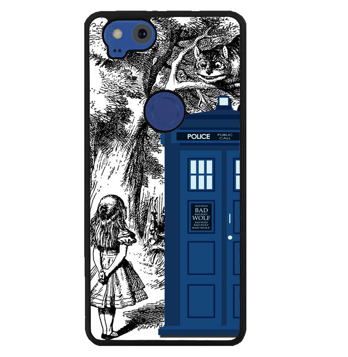 Alice In Wonderland Tardis Y0439 Google Pixel 2 Case
