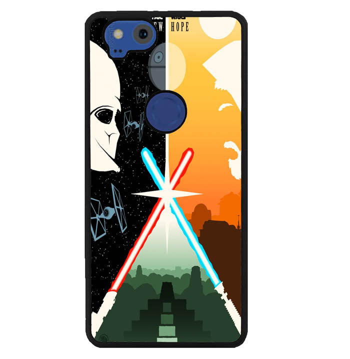 Star Wars Retro Poster Y0724 Google Pixel 2 Case