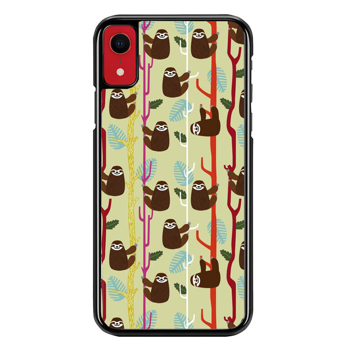 sloth wallpaper Y0810 iPhone XR Case