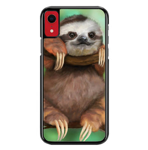 sloth wallpaper Y0812 iPhone XR Case
