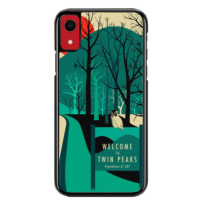 welcome to twin peaks wallpaper Y0980 iPhone XR Case