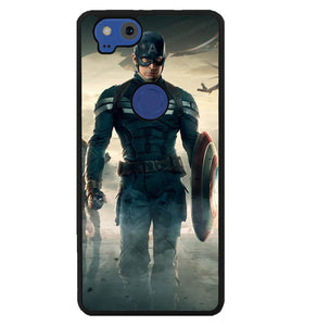 Captain America Uniform WALLPAPER Y1214 Google Pixel 2 Case