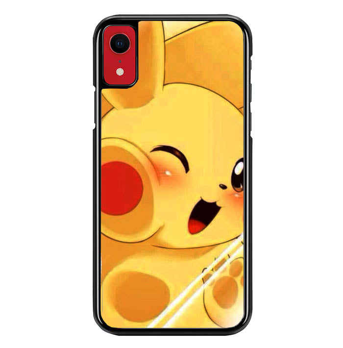 Pikachu Chubby WALLPAPER Y1343 iPhone XR Case