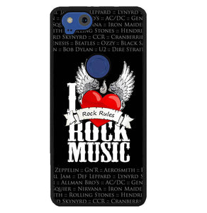 i love rock music W3898 Google Pixel 2 Case