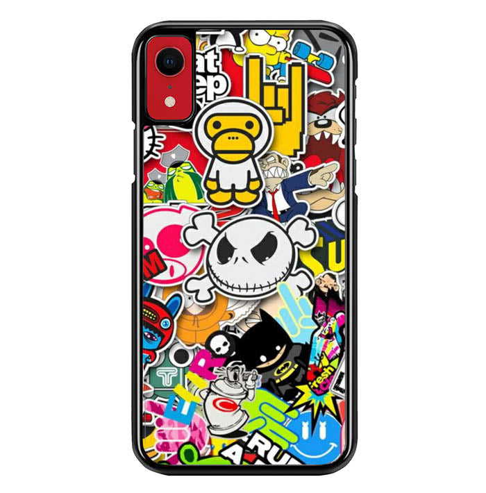 Stickerbomb Graffiti Art Collage Cool W4400 iPhone XR Case