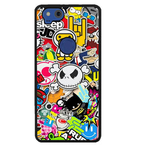 Stickerbomb Graffiti Art Collage Cool W4400 Google Pixel 2 Case