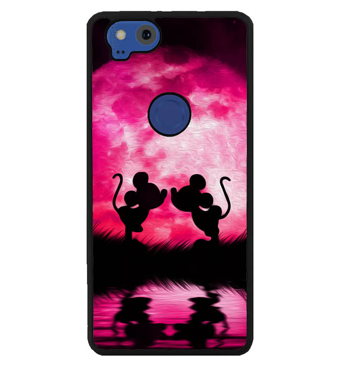 mickey minnie mouse silhouette W4418 Google Pixel 2 Case