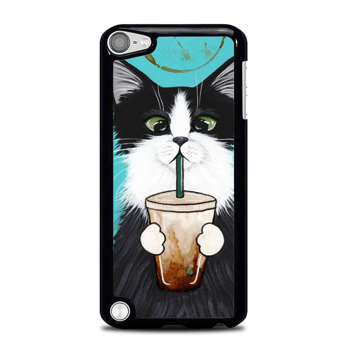 cute coffee cat W4510 iPod Touch 5 Case