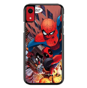 spiderman and deadpool funny W8637 iPhone XR Case