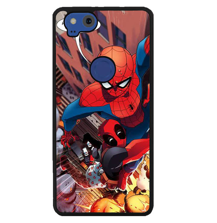 spiderman and deadpool funny W8637 Google Pixel 2 Case