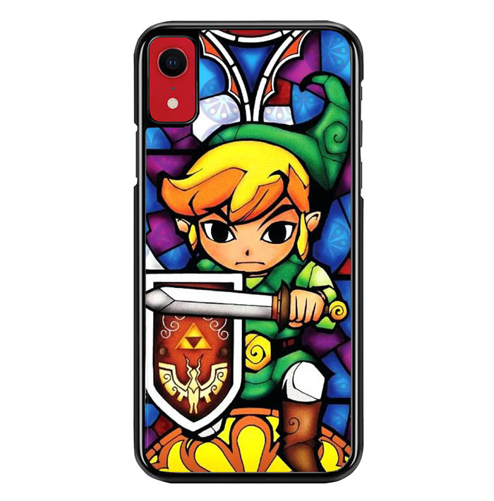 Pictures Of Stained Glass Legend Of Zelda W8735 iPhone XR Case