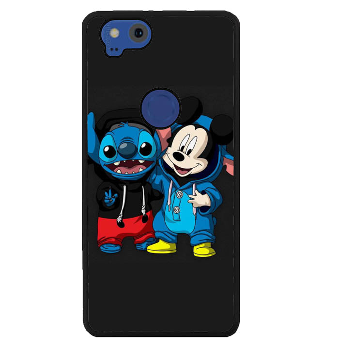 stitch and mickey mouse W8798 Google Pixel 2 Case