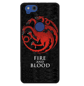 game of thrones fire and blood targaryen W8884 Google Pixel 2 Case