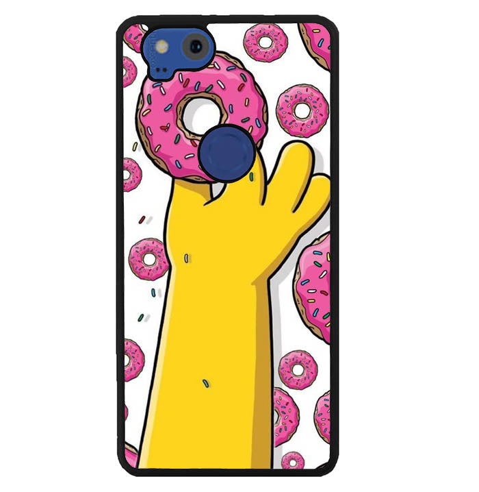 donuts simpsons W8940 Google Pixel 2 Case