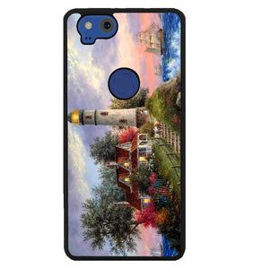 Lighthouse On Hill art Y1722 Google Pixel 2 Case