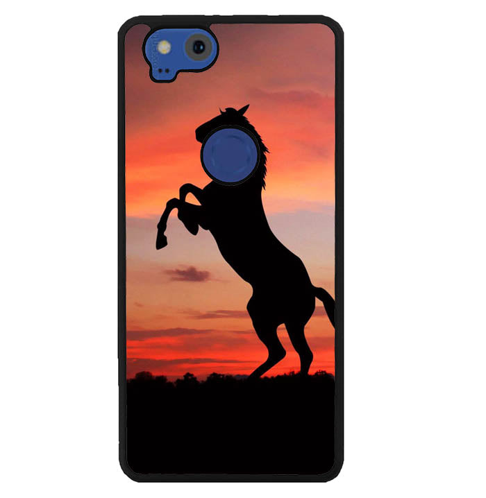 Horse Silhouette On Red Sunset Y1880 Google Pixel 2 Case