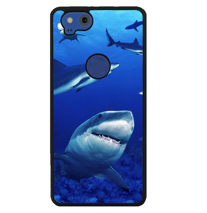 shark in water wallpaper Y1949 Google Pixel 2 Case
