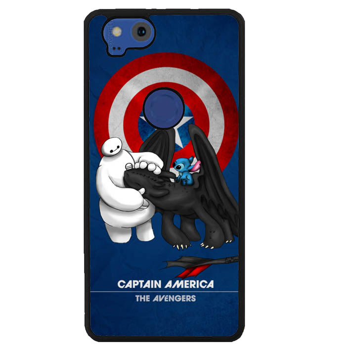 Stitch Baymax Toothless CAPTAIN AMERICA Y2888 Google Pixel 2 Case