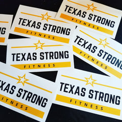 Texas Strong Fitness Car Decal