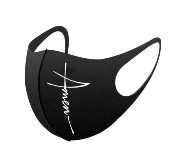 #Amen Face Mask (Black)