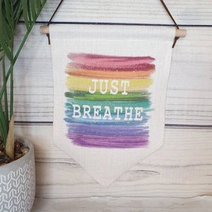 Just Breathe Pennant Banner