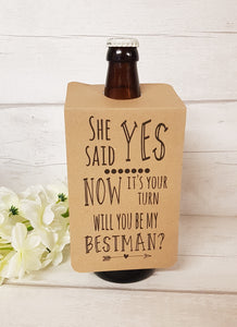 Best Man Bottle Tag