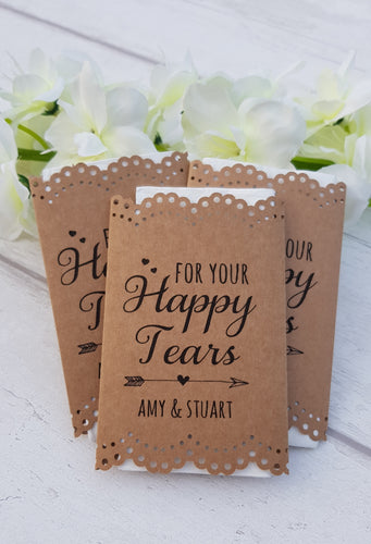 For your Happy Tears wedding tissues