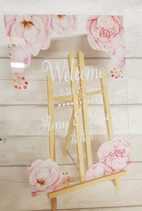 Acrylic Wedding Welcome Sign