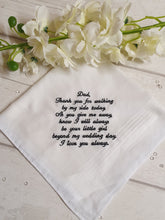 Load image into Gallery viewer, Father of the Bride Hankerchief