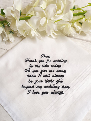 Father of the Bride Hankerchief