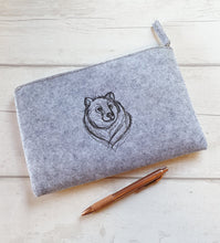 Load image into Gallery viewer, Embroidered Felt Pouch