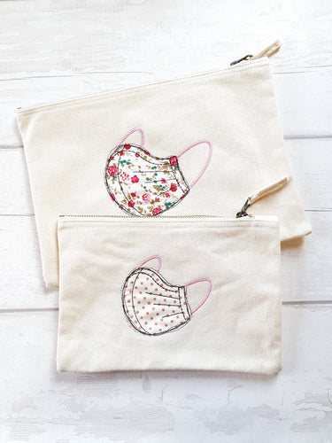 Embroidered Mask Pouch