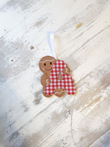 Intial Gingerbread Man