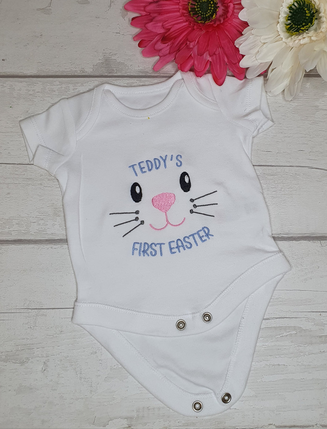 Baby's First Easter Embroidered Vest