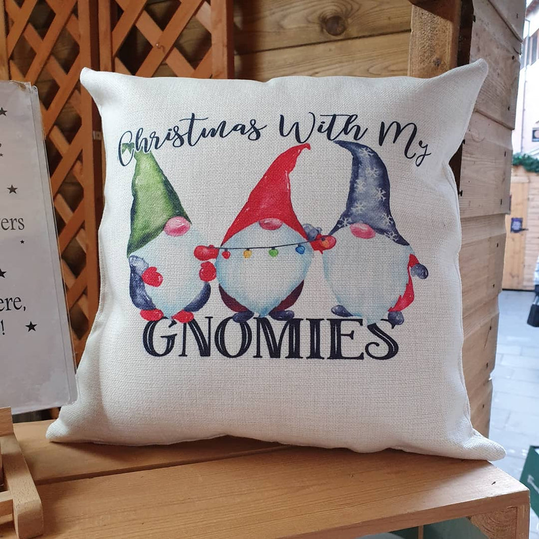 Christmas with my Gnomies cushion