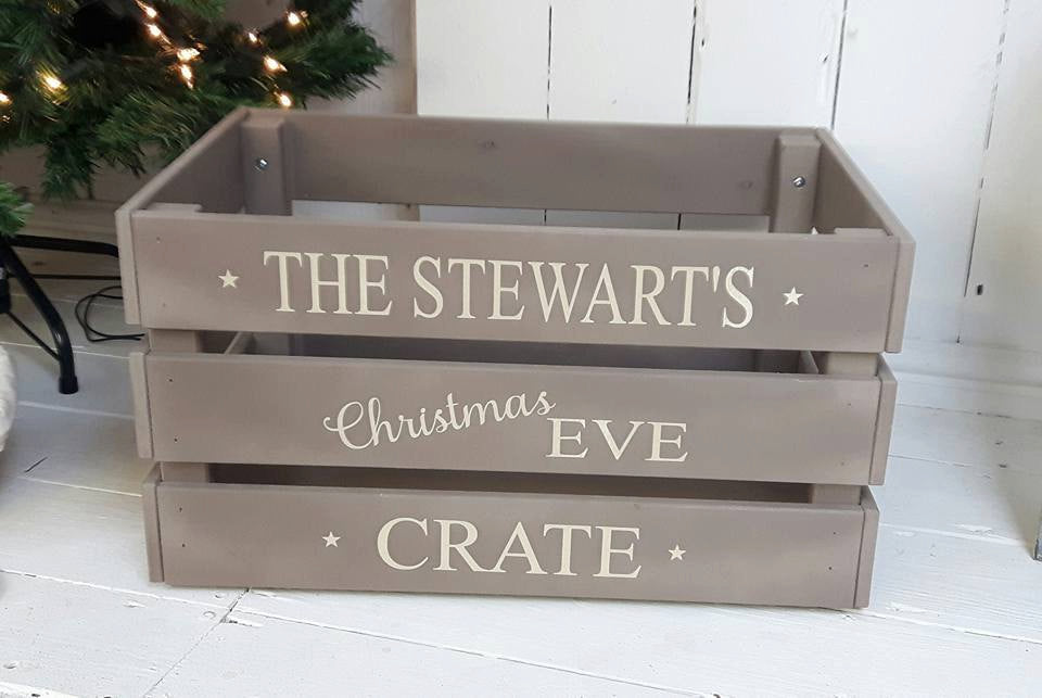 Family Christmas Eve Crate, Christmas eve box,crate,wooden box