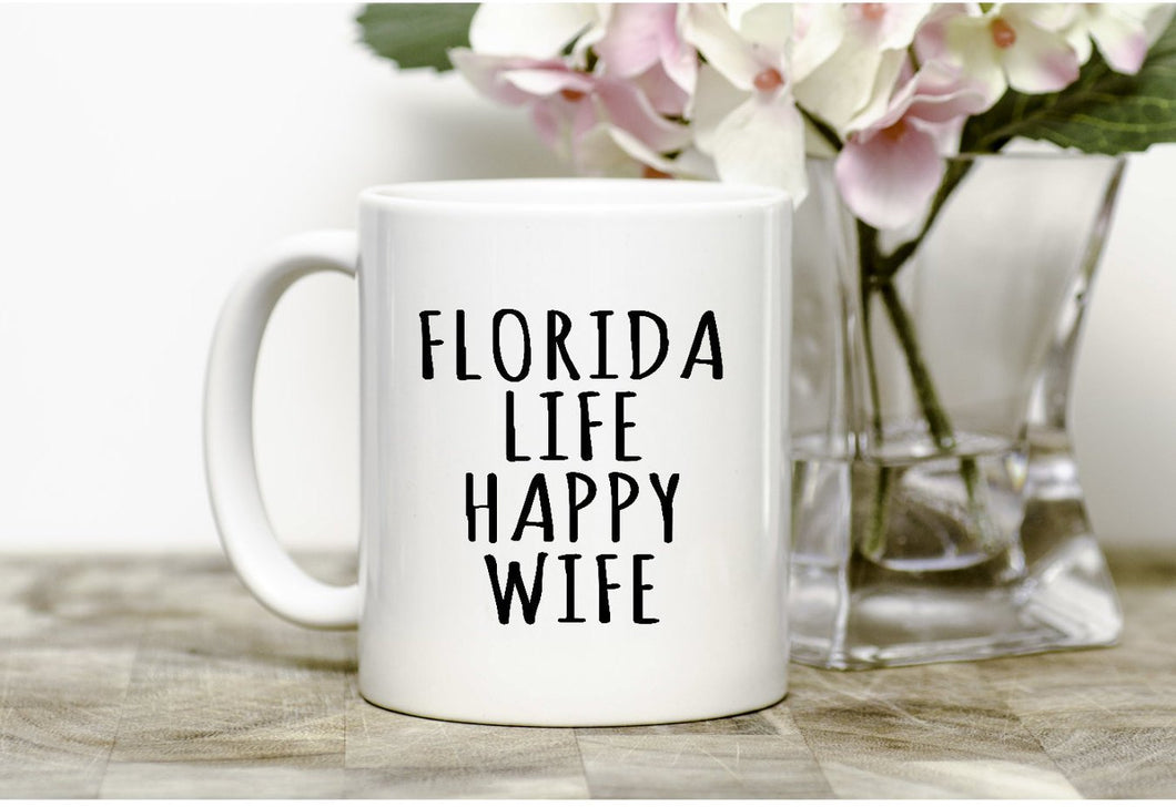 Florida Life Happy Wife  Mug