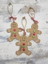 Load image into Gallery viewer, Gingerbread tree decoration, wooden tree decoration