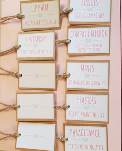 Bridesmaids gift tags,wedding day